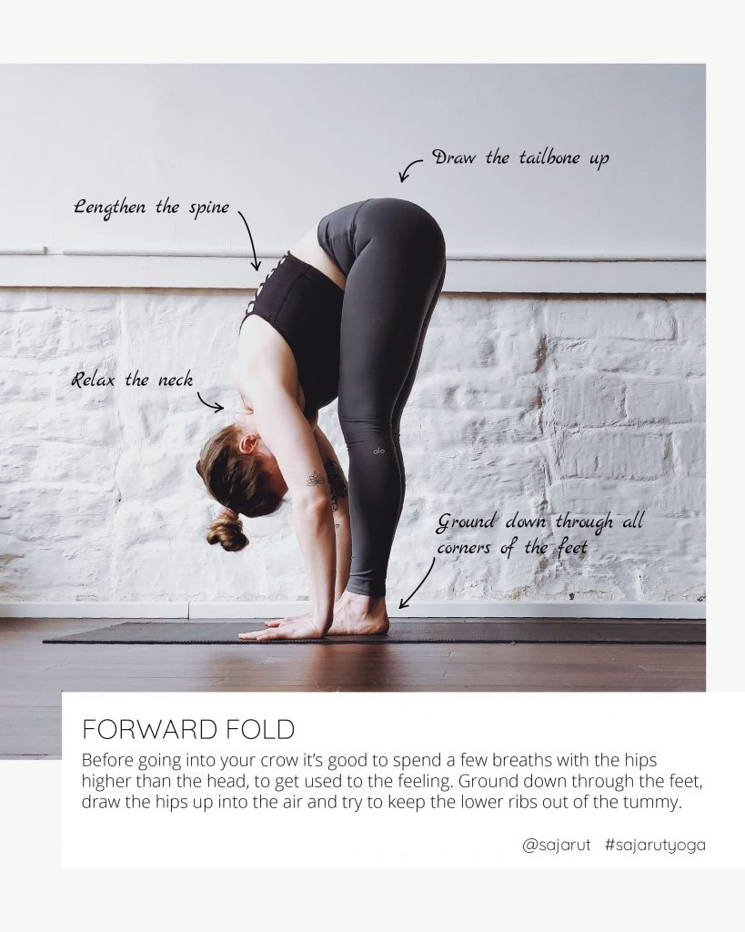 Crow tutorial: Forward fold to get used to being upside down