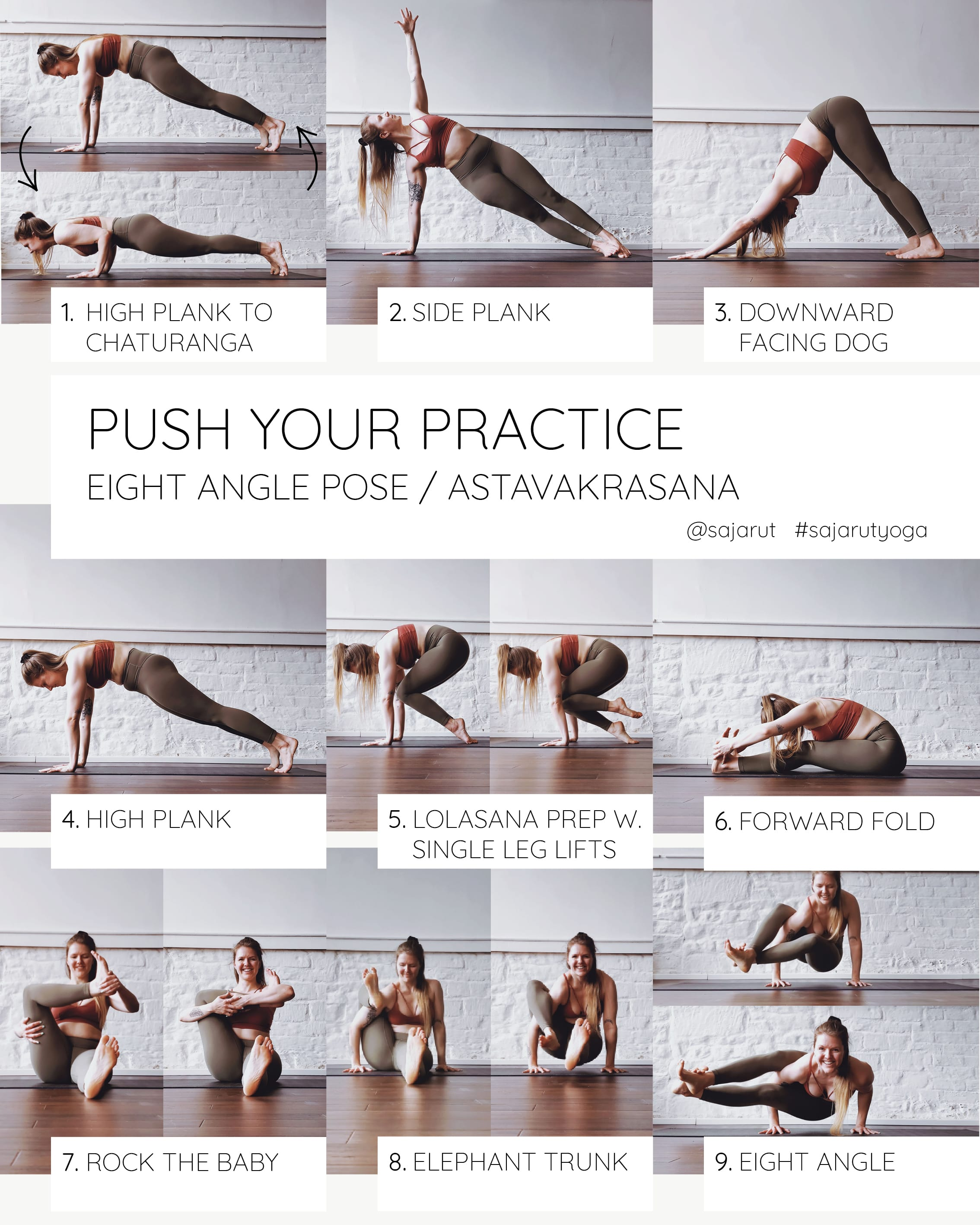 Push Your Practice: Eight Angle Pose Tutorial